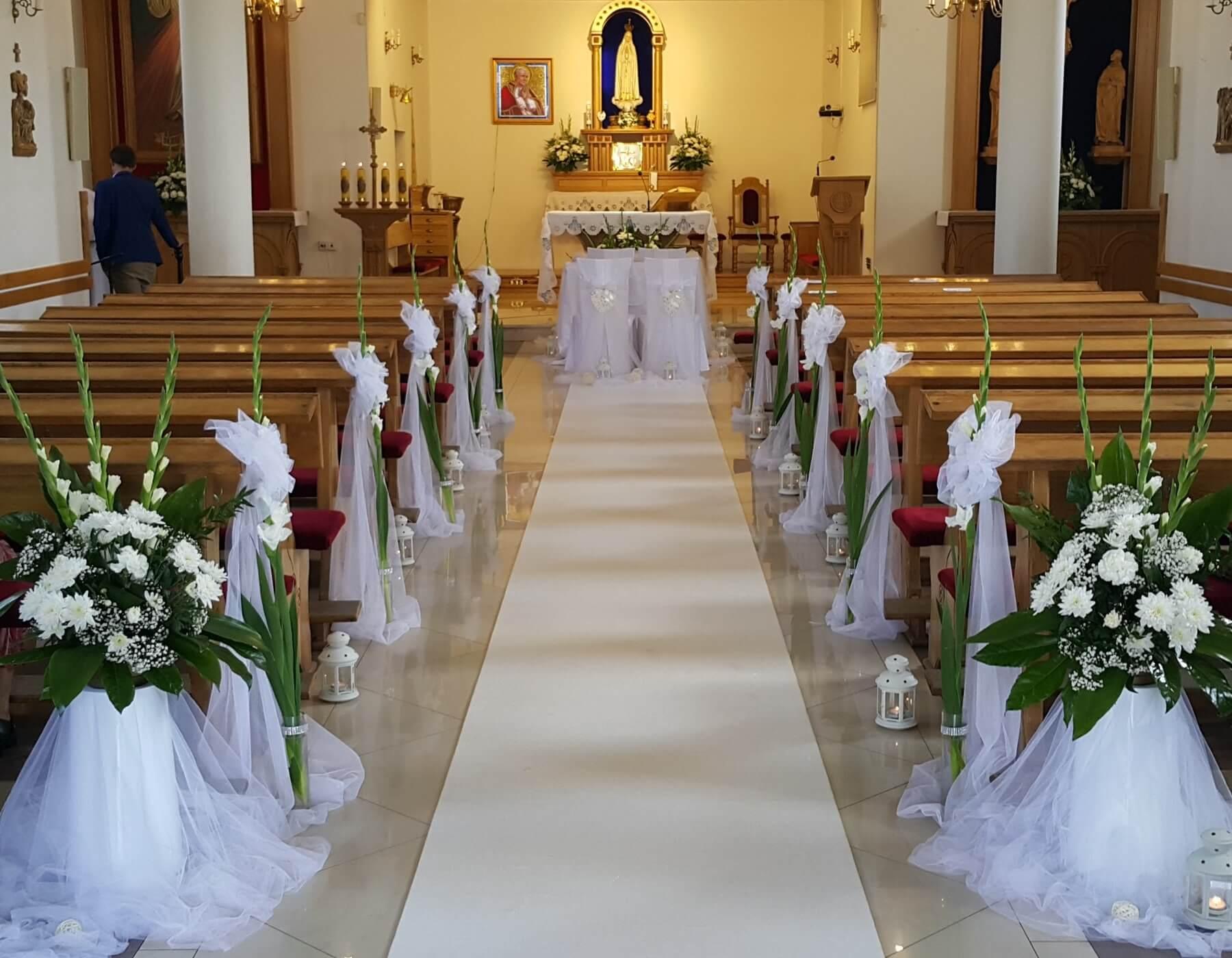 Nowość Wiązanki ślubne. Dekoracje kościoła i sali weselnej. CS07